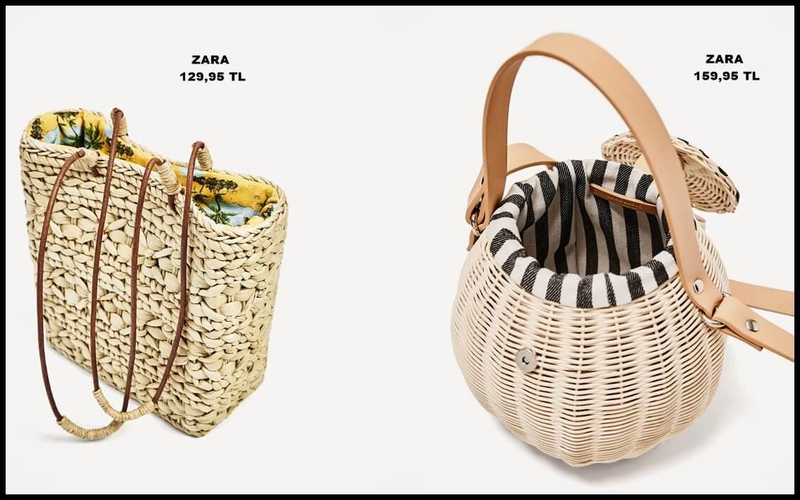 Yeni trend: Hasır çantalar